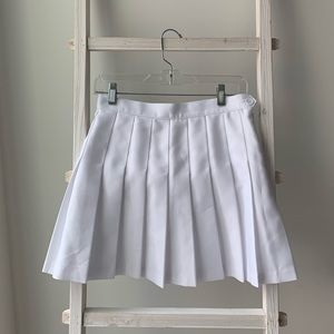 American Apparel Skirts - White pleated American Apparel skirt